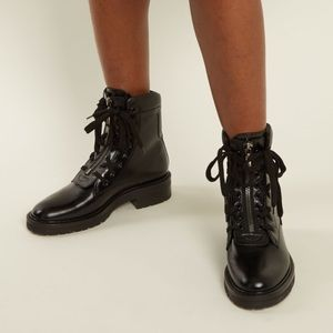 🔹Saint Lauren William Double-Laced Combat Boot